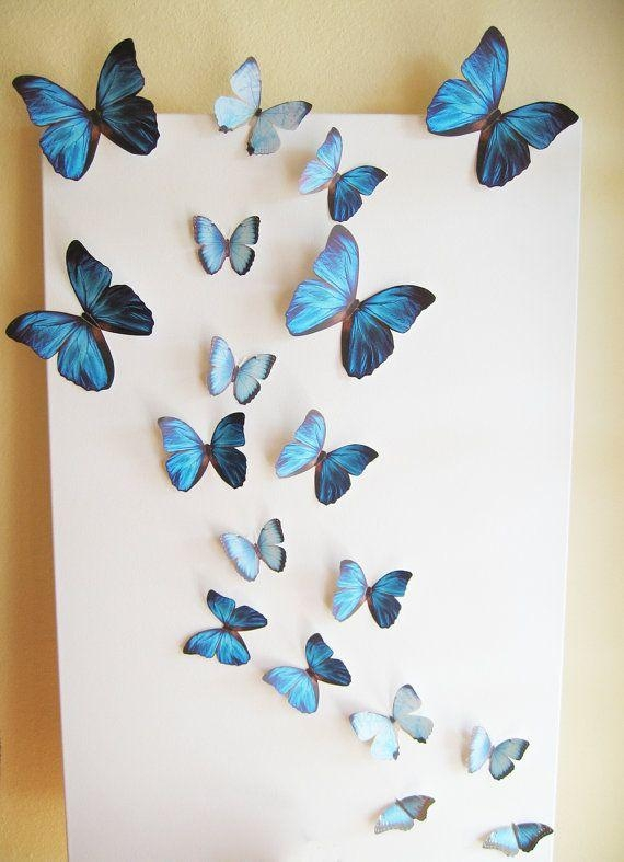 25+ Unique 3D Butterfly Wall Decor Ideas On Pinterest | Butterfly Pertaining To 3D Butterfly Wall Art (View 18 of 20)