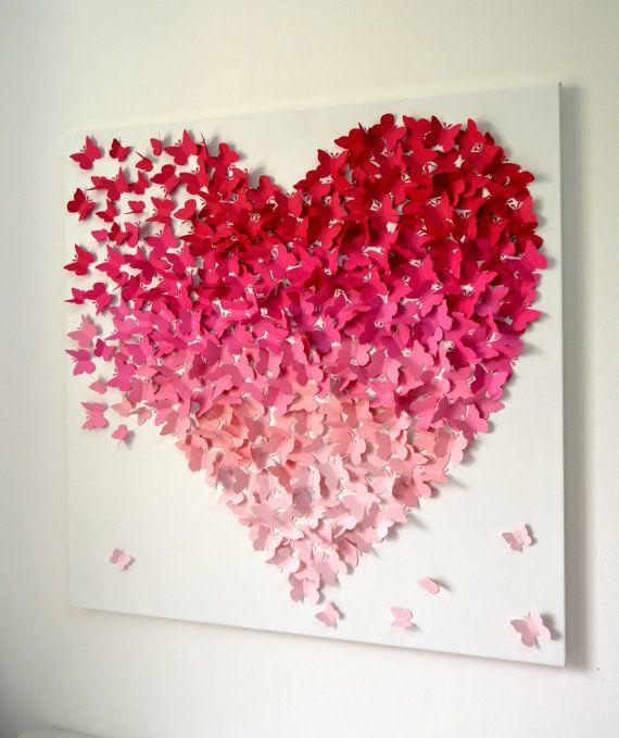 25+ Unique 3D Wall Art Ideas On Pinterest | Butterfly Wall, Diy Intended For Heart 3D Wall Art (Image 1 of 20)