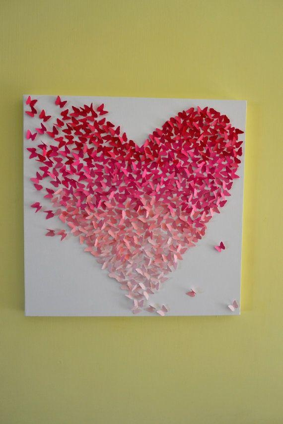 25+ Unique 3D Wall Art Ideas On Pinterest | Butterfly Wall, Diy Regarding Heart 3D Wall Art (Image 2 of 20)