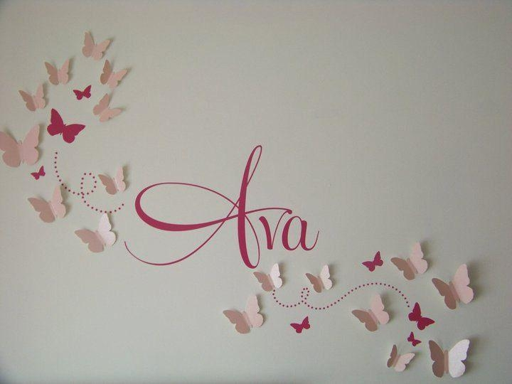 25+ Unique Butterfly Wall Art Ideas On Pinterest | Butterfly Wall Throughout Diy 3D Butterfly Wall Art (Image 6 of 20)