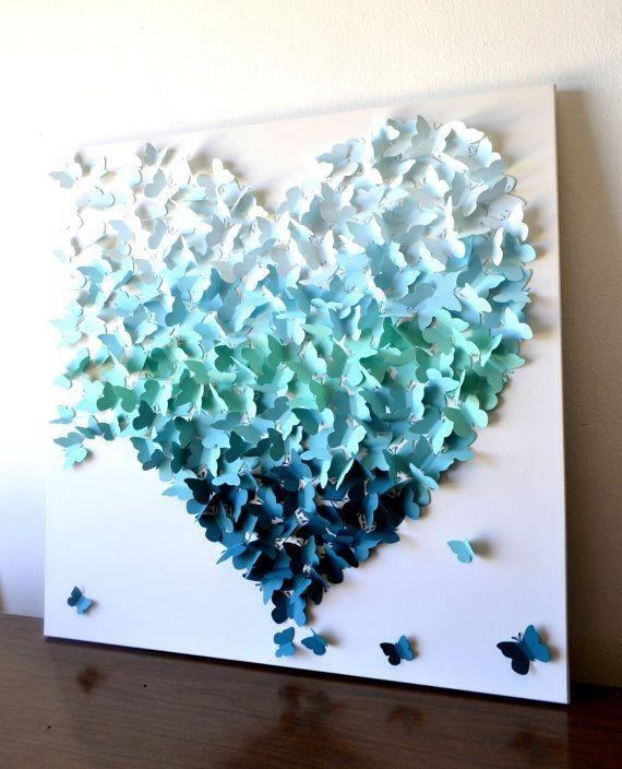 25+ Unique Butterfly Wall Art Ideas On Pinterest | Butterfly Wall Throughout Diy 3D Wall Art Butterflies (Image 5 of 20)
