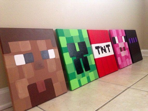278 Best Parties – Minecraft Birthday Images On Pinterest With Regard To Minecraft 3D Wall Art (Image 2 of 20)