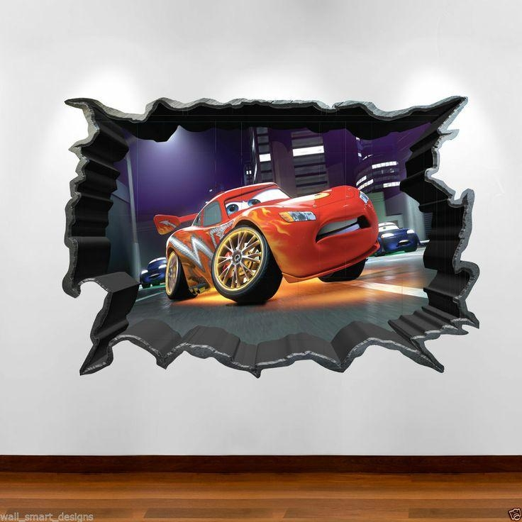 29 Best Baby Bedroom Images On Pinterest | Baby Bedroom, Kids For Cars 3D Wall Art (View 10 of 20)