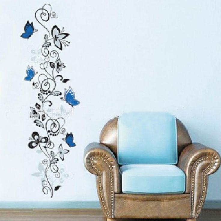 38 Best Muurstickers Images On Pinterest | Wall Stickers, Vinyls Pertaining To 3D Removable Butterfly Wall Art Stickers (View 5 of 20)