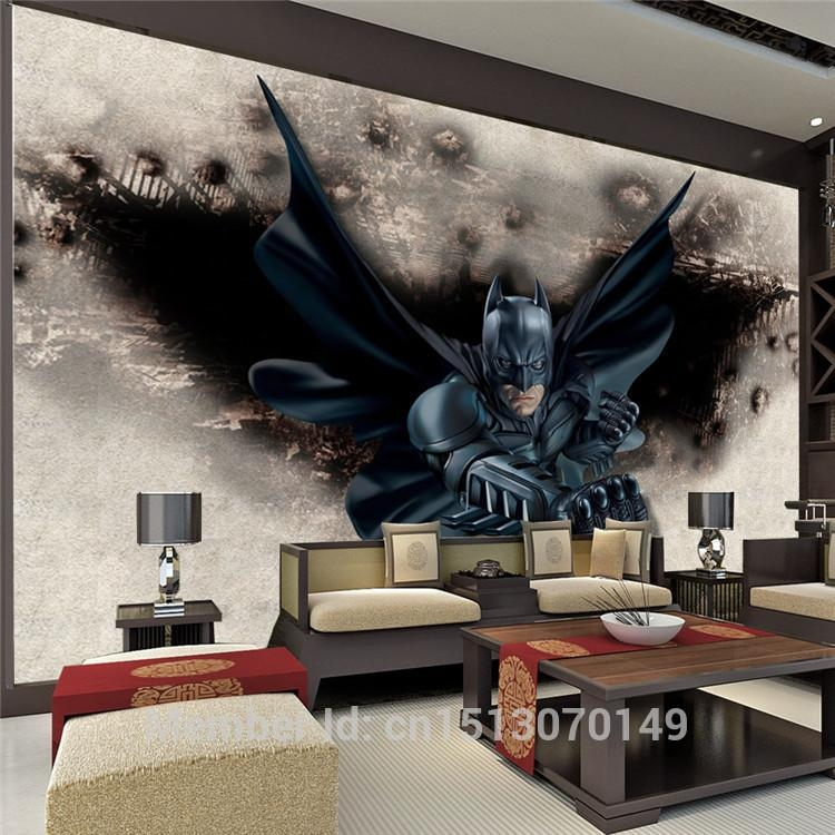 3D Amazing Batman Wall Mural Custom Large Photo Wallpaper Super Inside Batman 3D Wall Art (View 16 of 20)