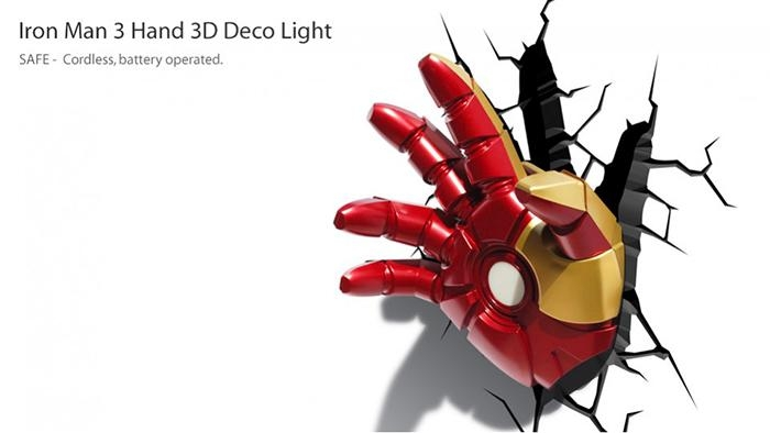 3D Avengers Iron Man Hand Led Night Light – Eb Games New Zealand Within Iron Man 3D Wall Art (View 7 of 20)