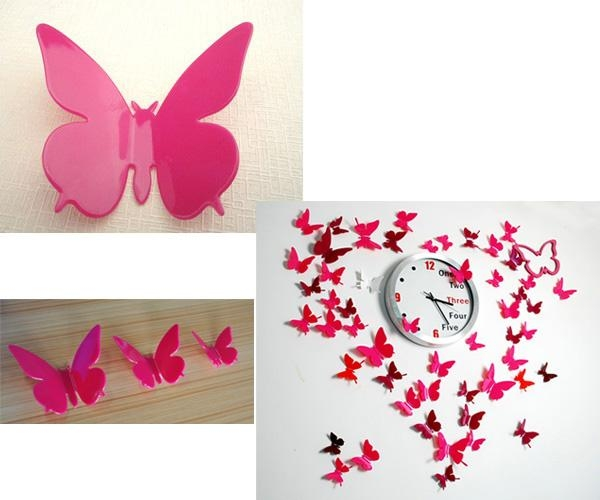 3D Butterfly Wall Art Diy – Wall Murals Ideas Within Diy 3D Wall Art Butterflies (Image 9 of 20)