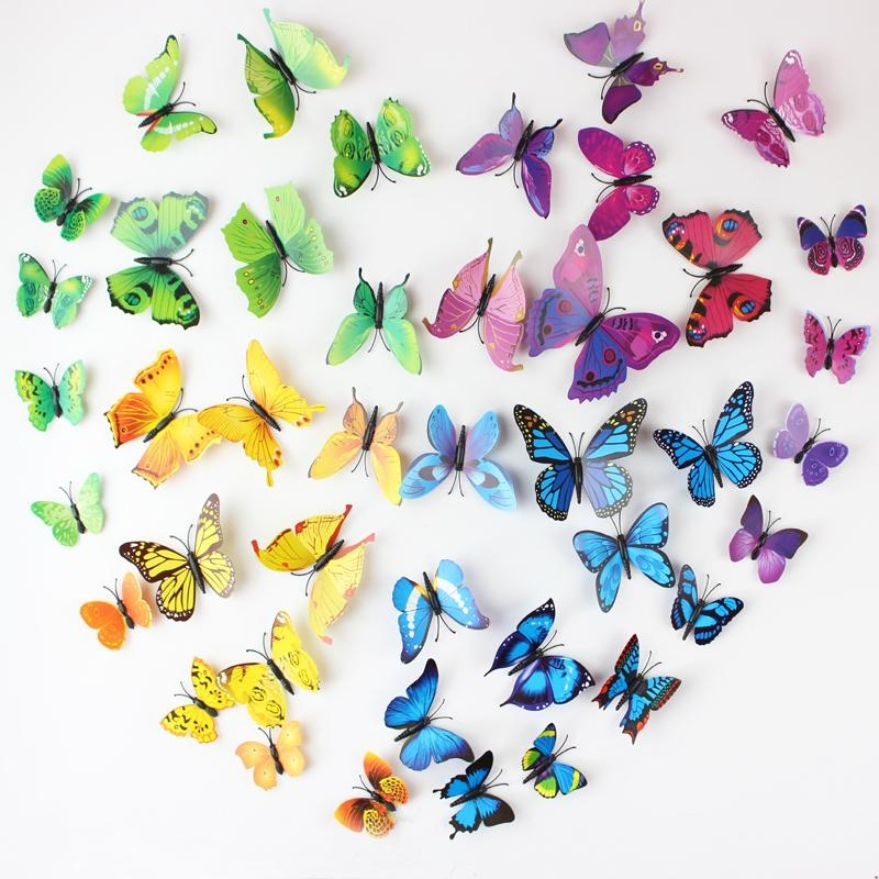 3D Butterfly Wall Stickers – Wall Murals Ideas In 3D Removable Butterfly Wall Art Stickers (View 15 of 20)