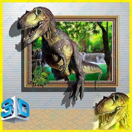 3D Dinosaur 2 Wall Stickers Park Home Decoration Diy Shopping Mall In Dinosaurs 3D Wall Art (Photo 3 of 20)