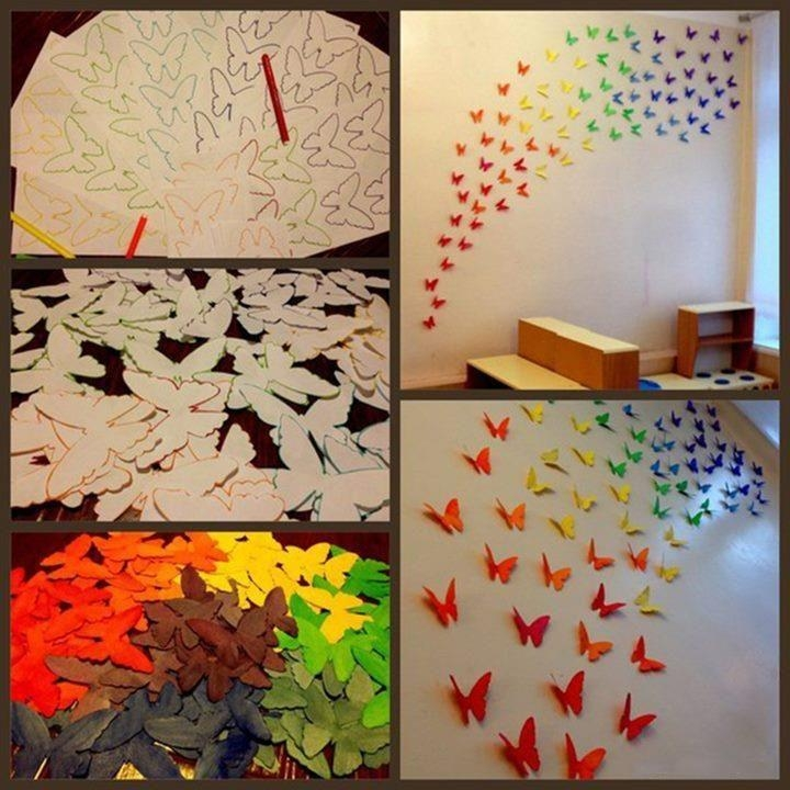 3D Diy Wall Art] Amazing Diy 3D Wall Art Ideas, 25 Unique 3D Wall For Diy 3D Wall Art Butterflies (Image 10 of 20)