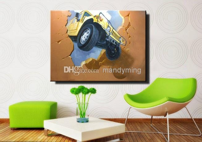 3D Effect Oil Wall Art Painting On Canvas Great Hand Painted Intended For 3D Effect Wall Art (Image 1 of 20)