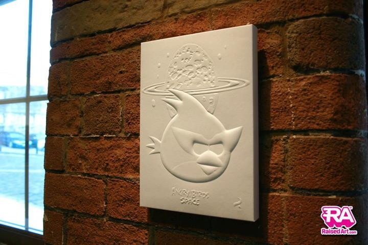 3D Effect Wall Art – Angry Birds (Red Bird)Raisedart On Deviantart Regarding 3D Effect Wall Art (Image 6 of 20)