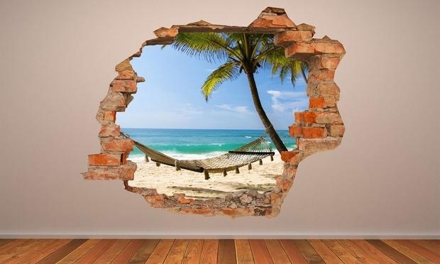 3D Effect Wall Vinyl | Groupon Goods Intended For 3D Effect Wall Art (View 13 of 20)