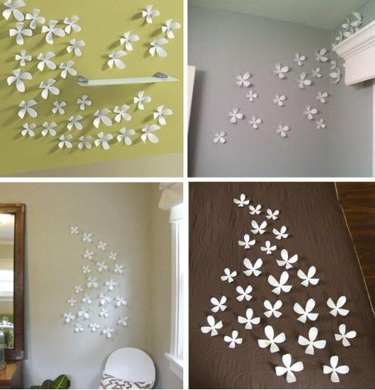3D Flower Wall Art Incredible 3D Faux Flowers Hot Glued To Canvas Throughout Flowers 3D Wall Art (Image 3 of 20)
