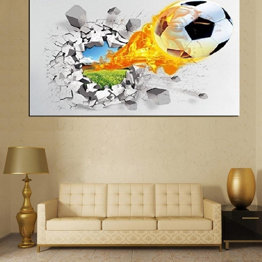 3D Framed Artwork Promotion Shop For Promotional 3D Framed Artwork On For Football 3D Wall Art (Image 2 of 20)