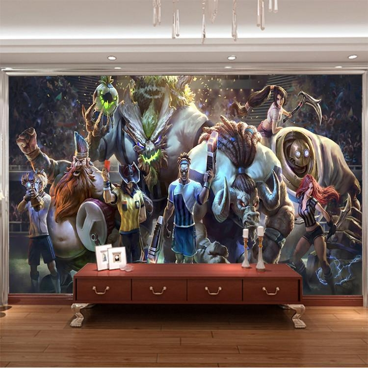 3D Game Wall Mural League Of Legends Photo Wallpaper Custom Art With 3D Wall Art Wallpaper (Image 1 of 20)