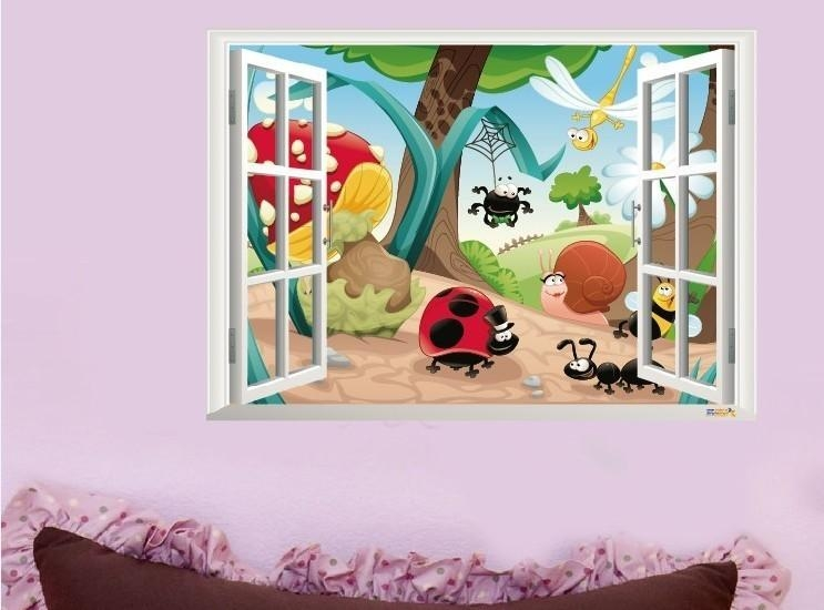 3D Insects Family Nursery Wall Sticker Decal For Baby Nursery 3D Wall Art (Photo 1 of 20)