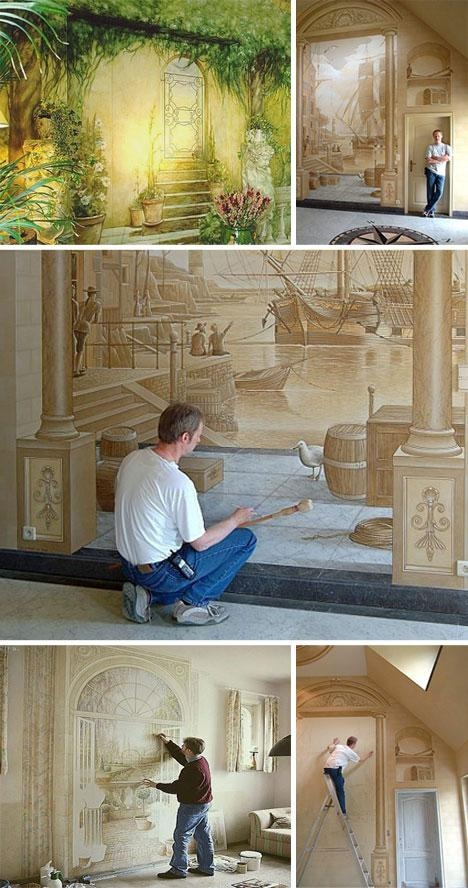 3D Interior Wall Drawings And Paintings | Urbanist For 3D Wall Art And Interiors (Image 2 of 20)