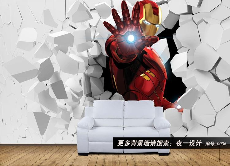 3D Iron Man Photo Wallpaper Custom Wall Murals Amazing Wallpaper With Iron Man 3D Wall Art (View 1 of 20)