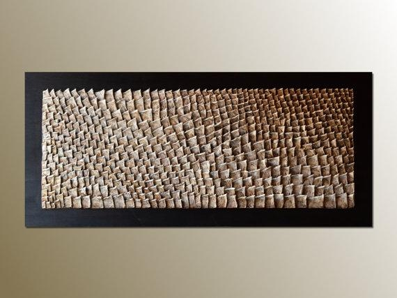 3D Large Wood Wall Art Organic Texture Wall Sculpture With 3D Modern Wall Art (Image 3 of 20)