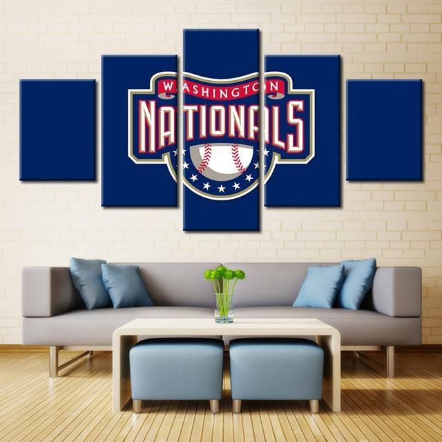 3D Logo Baseball Team Sport For Home Decoration Oil Painting Regarding Baseball 3D Wall Art (Image 7 of 20)