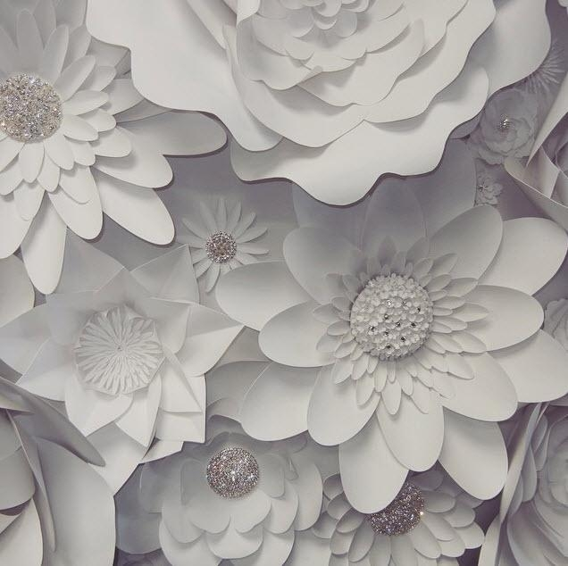 3D Paper Flower Wall From Mahi Rehan – Beautiful Lands Throughout Flowers 3D Wall Art (Image 5 of 20)