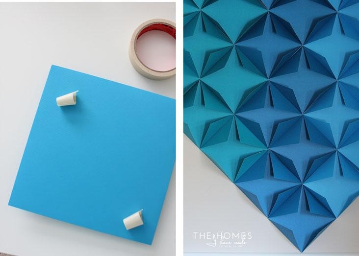 3D Paper Wall Art] Renter Friendly 3D Paper Wall Art, I Make 3D Intended For 3D Wall Art With Paper (Image 10 of 20)