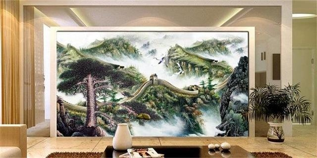 3D Photo High End Wallpaper Custom Room Non Woven Mural Great Wall Throughout Great Wall Of China 3D Wall Art (View 12 of 20)