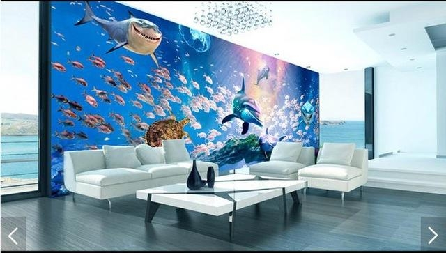 3D Photo Wallpaper Custom 3D Wall Murals Wallpaper The Bottom Of With Regard To 3D Wall Art Wallpaper (Image 2 of 20)