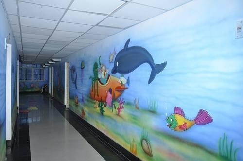 3D Play School Wall Painting Architect / Interior Design / Town Intended For 3D Artwork On Wall (Image 8 of 20)