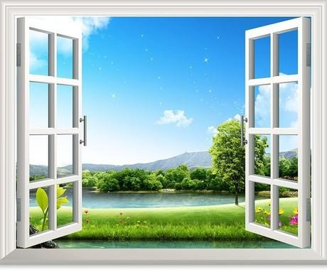 3D Pools Swim Window View Removable Wall Art Sticker Stickers Within 3D Wall Art Window (Photo 1 of 20)