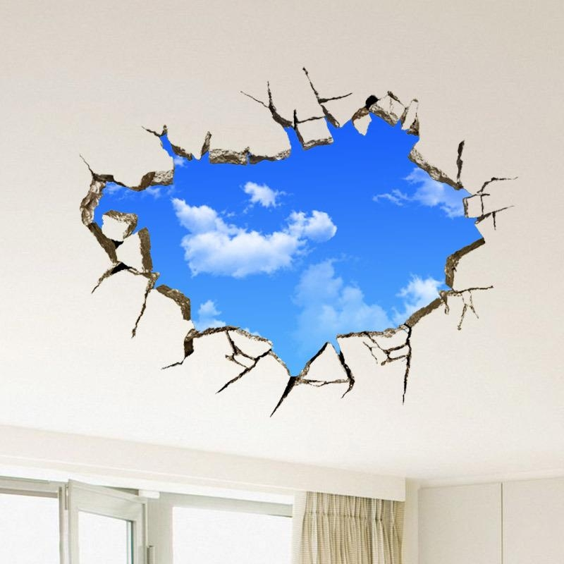 3D Stickers Wall – Wall Murals Ideas With Decorative 3D Wall Art Stickers (Photo 14 of 20)