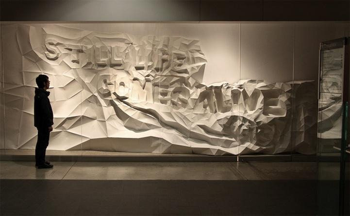 3D Typographic Wall Art Within 3D Modern Wall Art (Image 5 of 20)