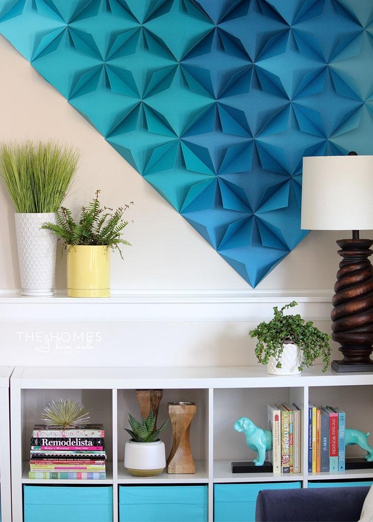 3D Wall Art And Decorcoolest D Wall Art In Home Decor Arrangement With 3D Wall Art With Paper (Image 11 of 20)