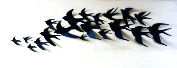 3D Wall Art Birds – Hydroloop Pertaining To White Birds 3D Wall Art (View 18 of 20)