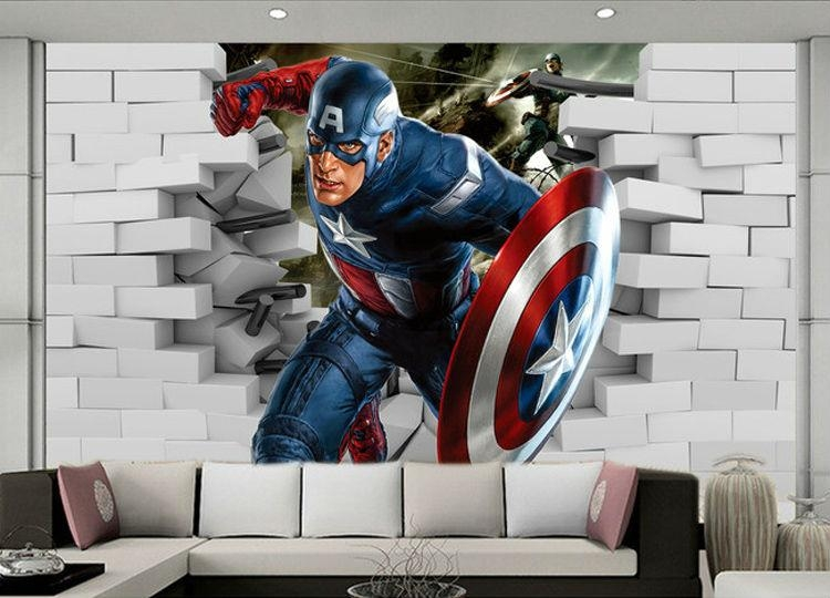 3D Wall Art Captain America | Wallartideas Within Captain America 3D Wall Art (Image 8 of 20)