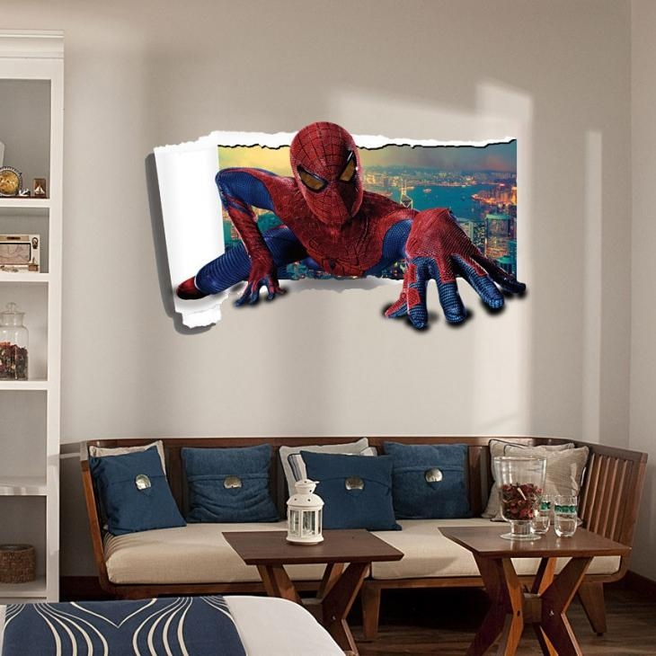 3D Wall Art Decor] Large Size Decoration Wall Art Crystal With Marvel 3D Wall Art (Image 5 of 20)