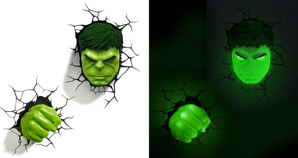3D Wall Art Night Light Australia | Wallartideas With Hulk Hand 3D Wall Art (Image 3 of 20)