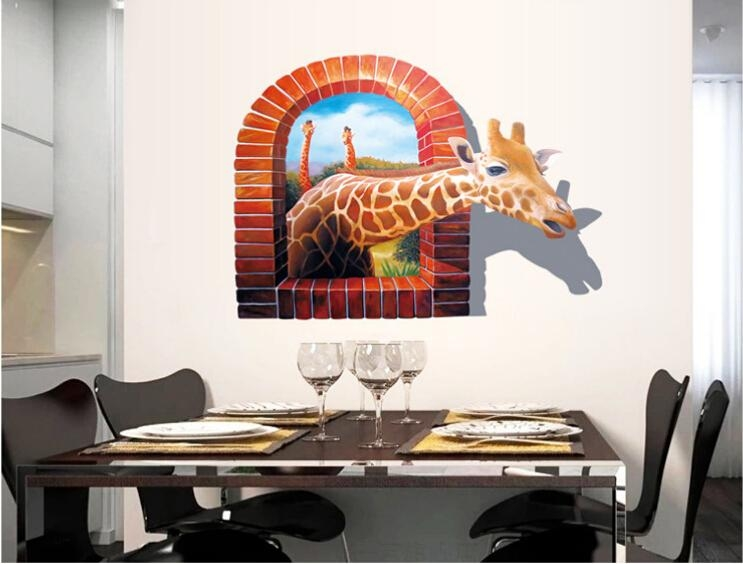 3D Wall Art Stickers – Wall Murals Ideas With Decorative 3D Wall Art Stickers (Image 11 of 20)