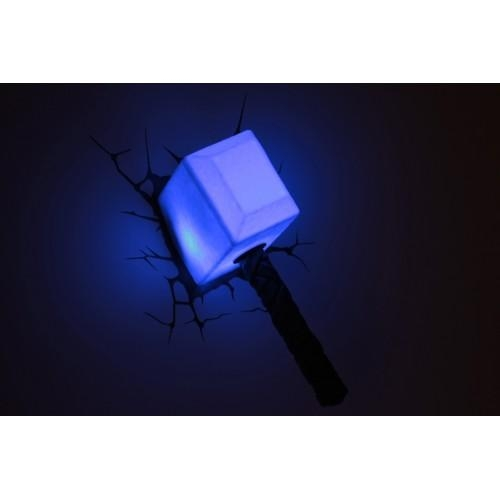 3D Wall Art Thor Hammer Nightlight – Wall Murals Ideas Within Thor Hammer 3D Wall Art (Image 3 of 20)