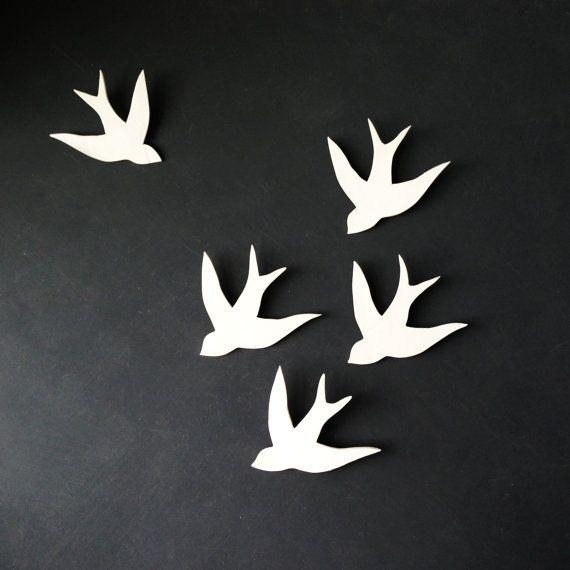 3D Wall Art White Birds | Wallartideas Within White Birds 3D Wall Art (View 2 of 20)