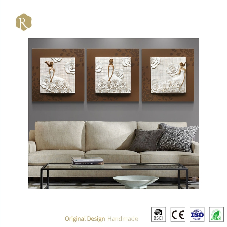3D Wall Art Wholesale Price Modern Fashion Girl Relief Resin With Regard To 3D Wall Art Wholesale (Image 6 of 20)
