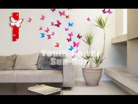 3D Wall Decor – Room Decor 3D Wall Stickers – Youtube For Decorative 3D Wall Art Stickers (Image 12 of 20)