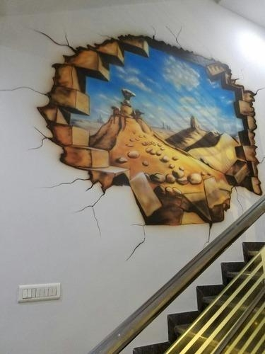 20 best collection of 3d artwork on wall