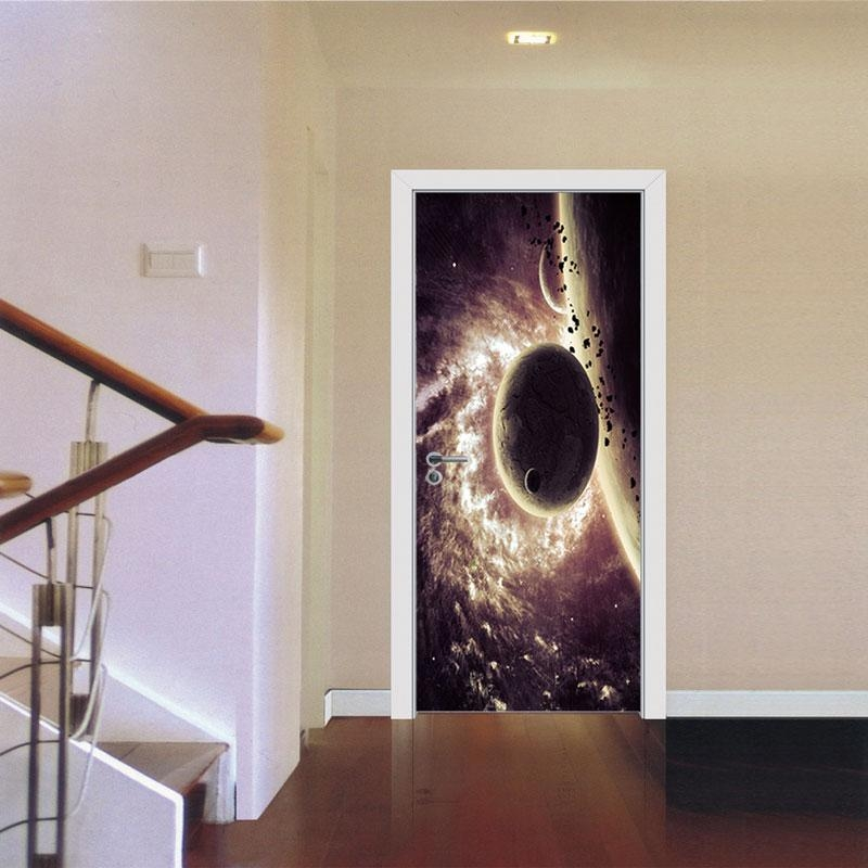 3D Wall Sticker Decal Art Decor Vinyl Removable Mural Poster Scene With Regard To Space 3D Vinyl Wall Art (Image 3 of 20)
