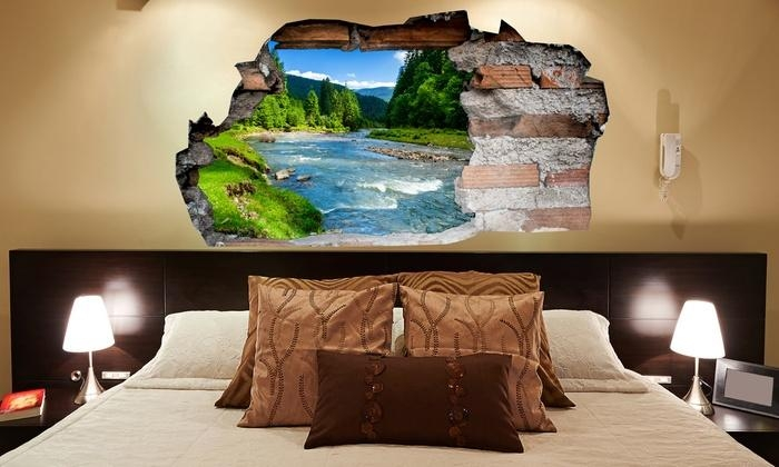 3D Wall Stickers | Groupon Goods Inside 3D Effect Wall Art (Image 5 of 20)