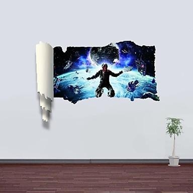 3D Wall Stickers Wall Decals, Outer Space Decor Vinyl Wall Within Space 3D Vinyl Wall Art (Image 4 of 20)