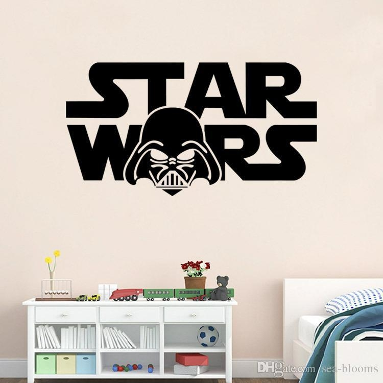 3D Walls Star Wars Wall Stickers Words Decorative Cartoon With Regard To 3D Wall Art Words (Image 8 of 20)