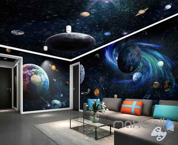 20 inspirations 3d solar system wall art decor wall art. Black Bedroom Furniture Sets. Home Design Ideas
