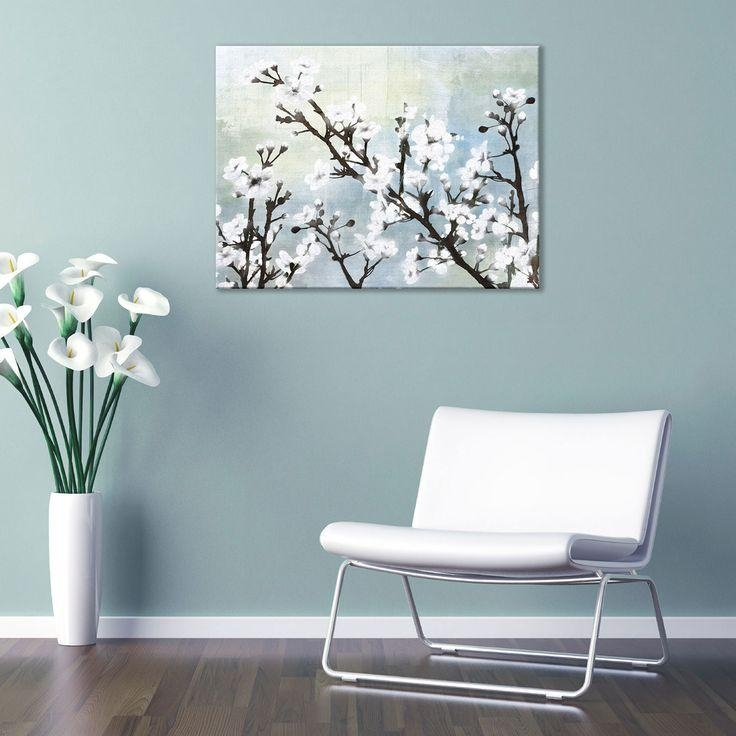 47 Best Canvas Painting Images On Pinterest | Cherry Blossoms With Blossom White 3D Wall Art (Image 12 of 20)
